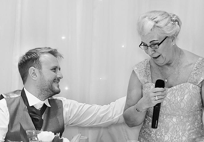 mum doing her wedding speech