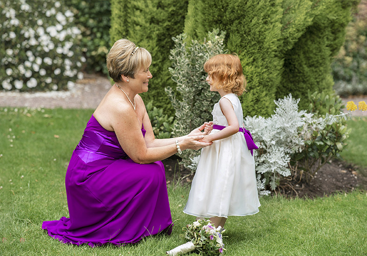 Bridesmaid and the flower girl