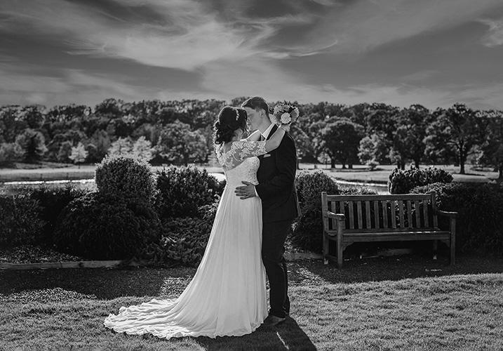 Wedding couple at Carden Park Hotel