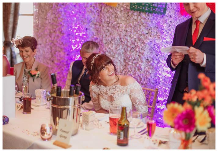 Bride listening