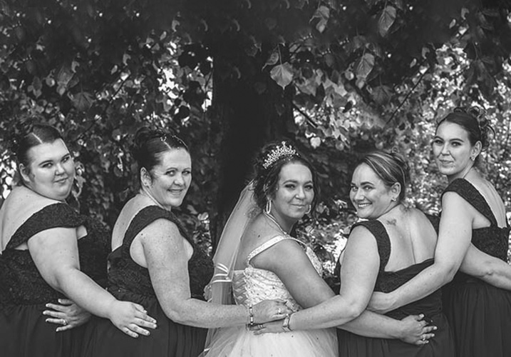 All the bridesmaids