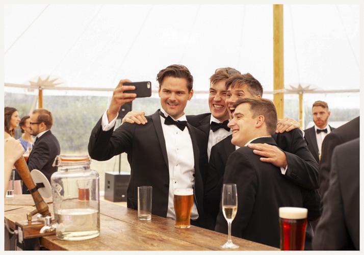Selfie at a wedding