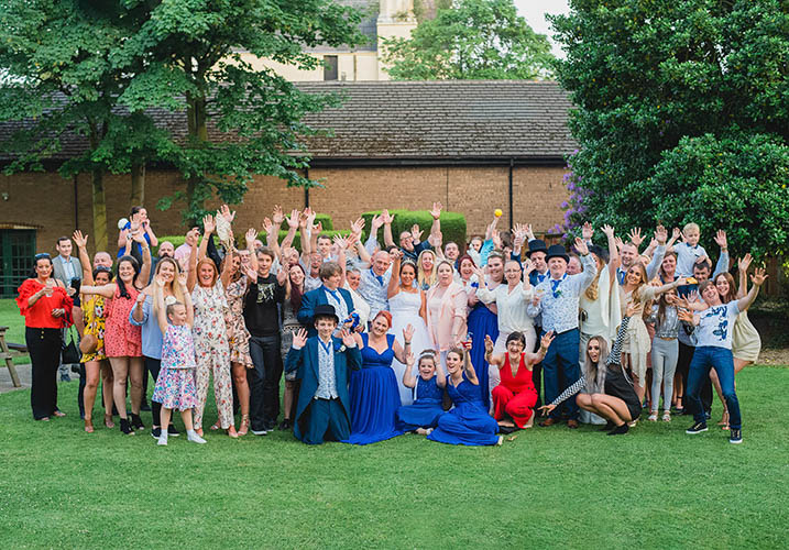 Large group wedding photo