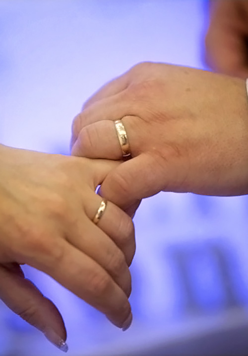 wedding hands together