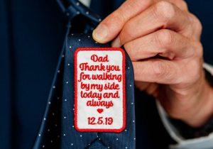 Tie has a message