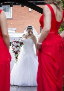 Arrival of the bride.