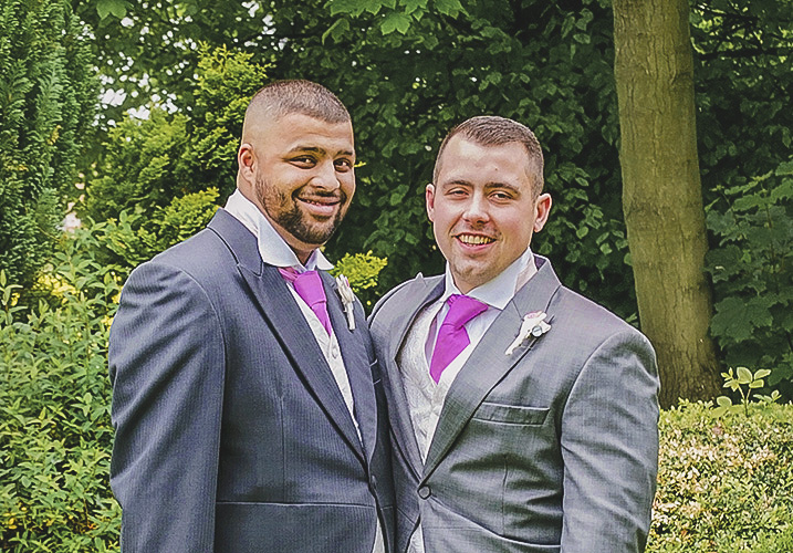 Groom and his best man
