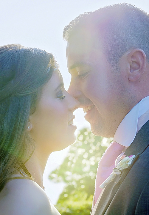 sun wedding photo