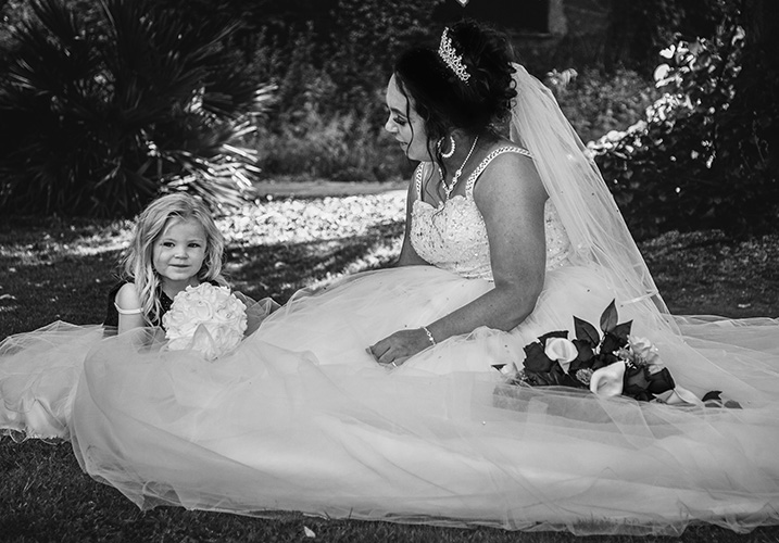 Bride with girl