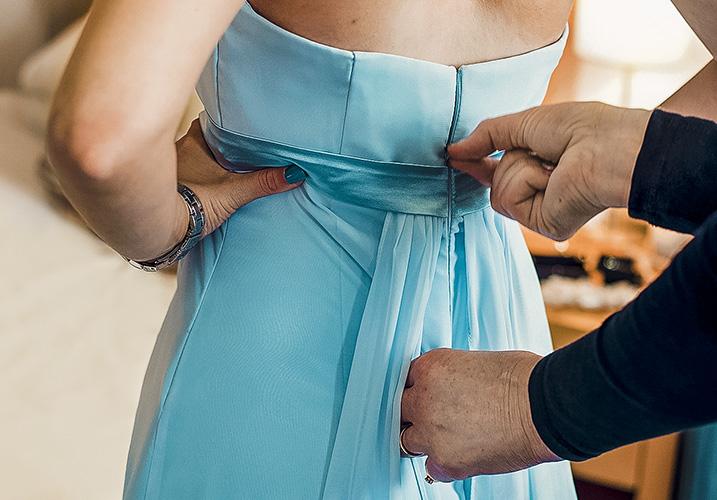 Bridesmaid blue dress