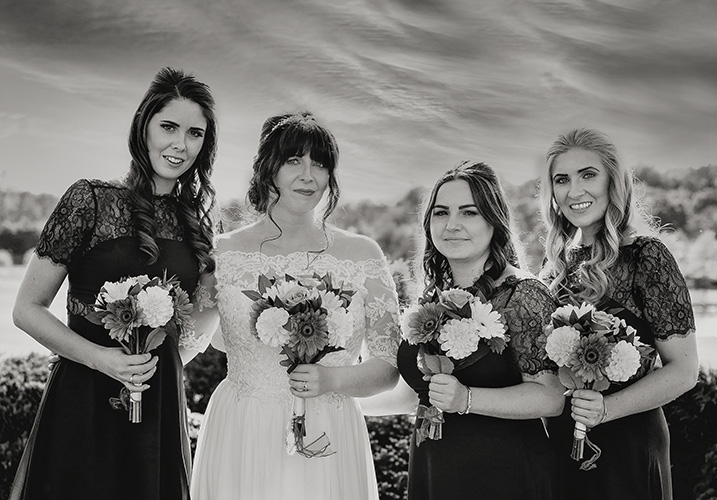Bride and her friends